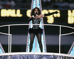 Gloria Estefan performing at Superbowl XXVI, 1992