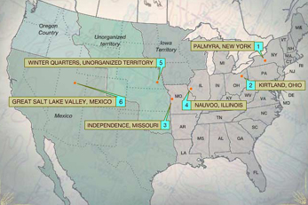 The Mormons | Map: Forced Migrations | PBS
