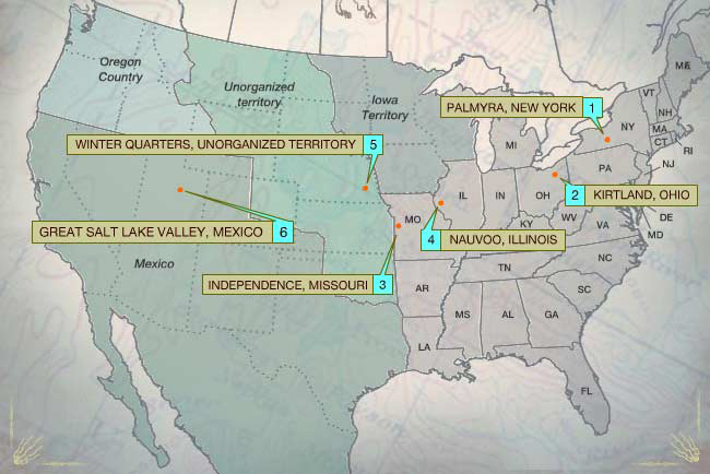 The Mormons Map Forced Migrations Pbs