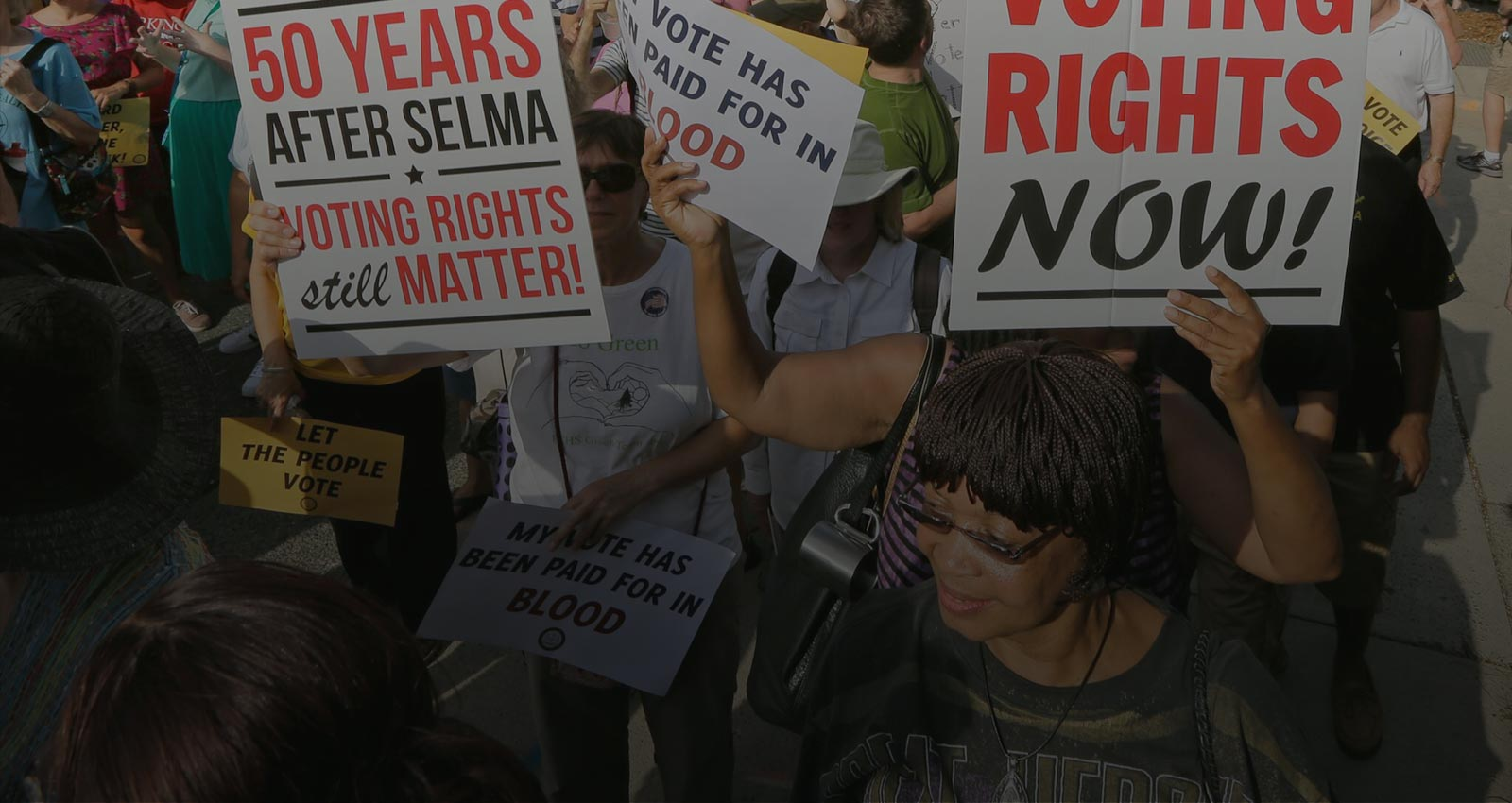 Protestors for voting rights