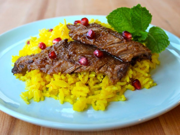 Tori's Pomegranate Molasses Brisket