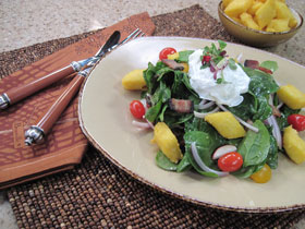 Poached Eggs Salad
