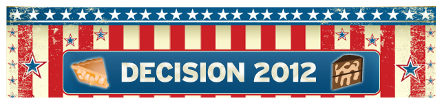 Decision 2012: Cake or Pie? custom banner