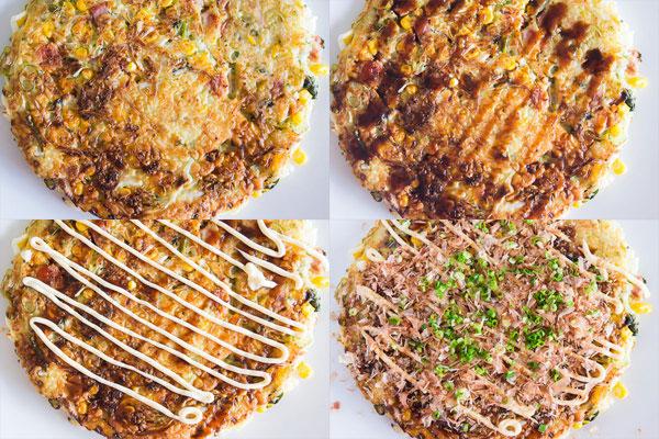 okonomiyaki japanese pancake okonomiyaki is classic japanese street ...