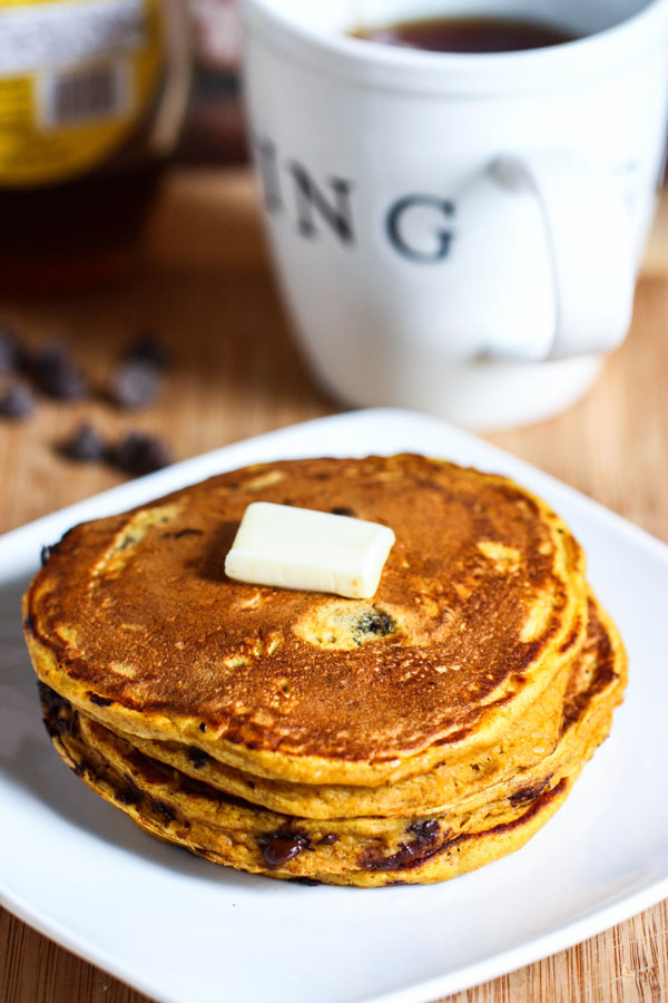 Chocolate Chip Pumpkin Pancakes