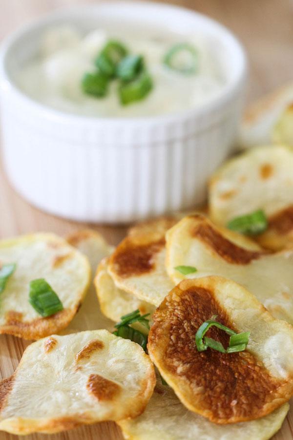 Oven Baked Potato Chips recipe