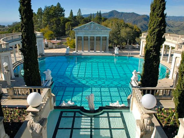 The Neptune Pool, Hearst Castle - William Randolph Hearst's Welsh Rarebit