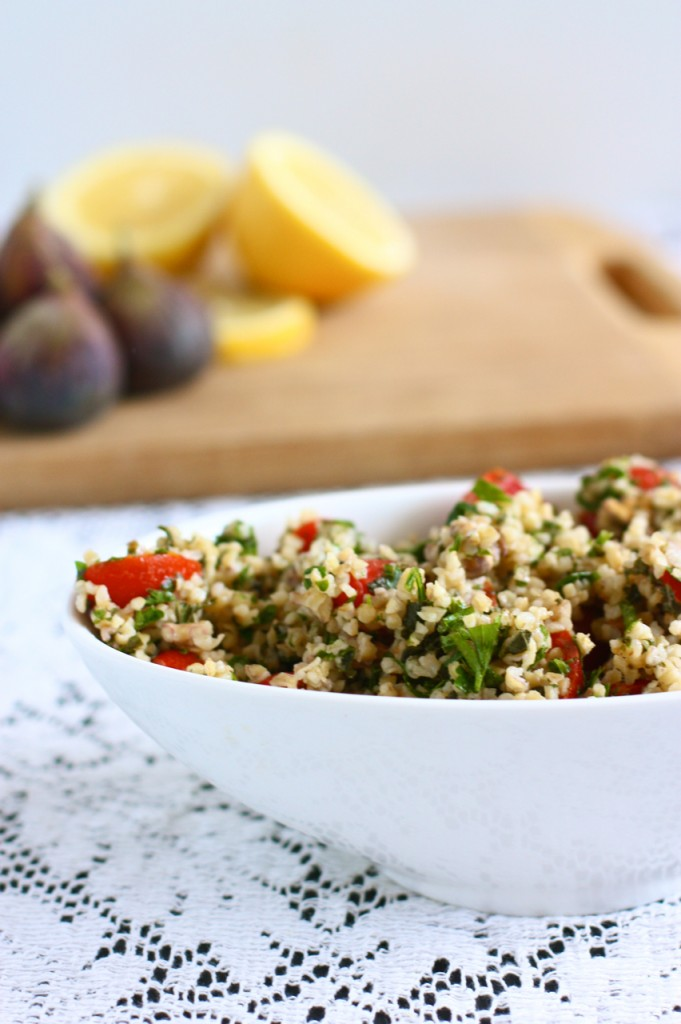 Grape Tomato and Walnut Tabbouli