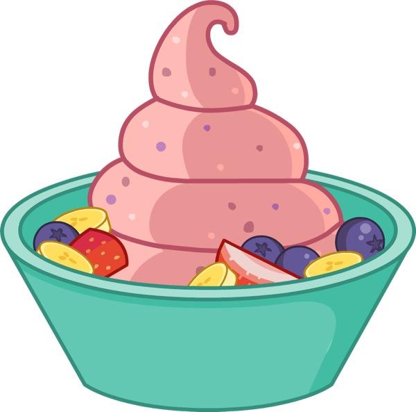berry banana frozen yogurt recipe pbs food rh pbs org Frozen Yogurt Logos Frozen Yogurt Cup