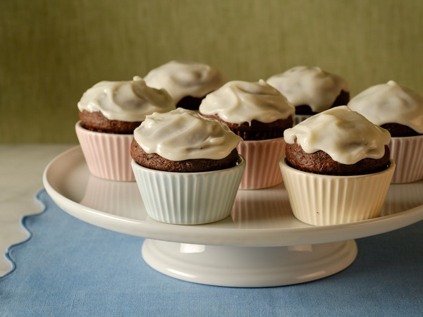 Frosted Chocolate-Buttermilk Cupcakes Recipe | PBS Food