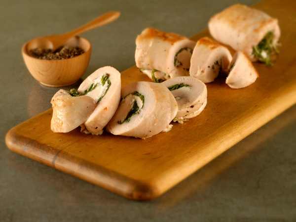 Chicken Roll-Ups with Goat Cheese and Arugula Recipe | PBS ...