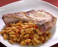 Pork Chops with White Beans Recipe | PBS Food