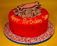 Clifford Birthday Party Dog Bowl Cake
