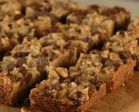 unbeatable blondie recipe combines the buttery flavor and chocolate ...