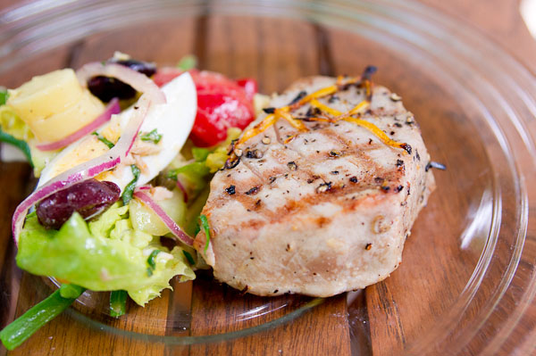 Lemon Grilled Tuna Steaks recipe