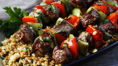 Summer Grilled Beef Kabobs | Recipes | PBS Food