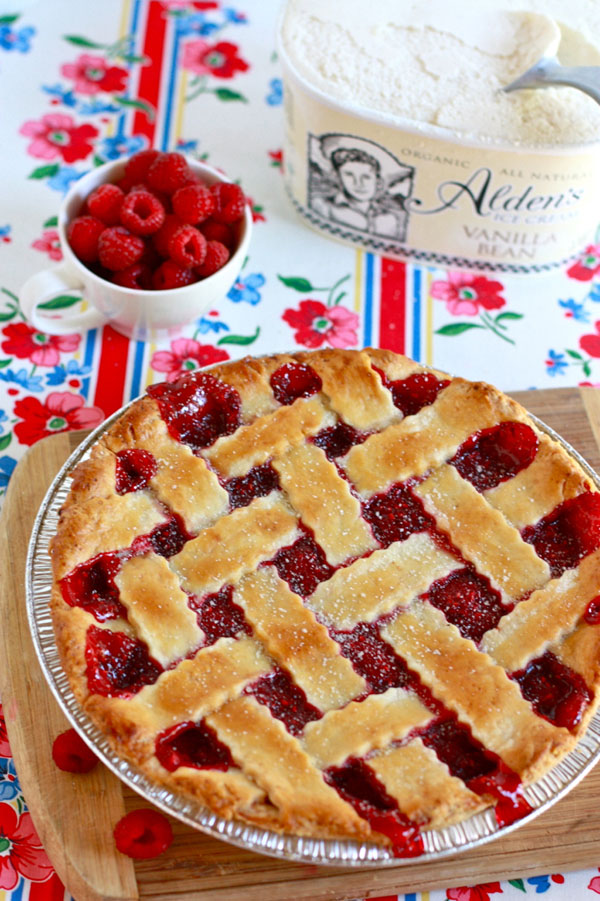 Jenna's delicious raspberry pie