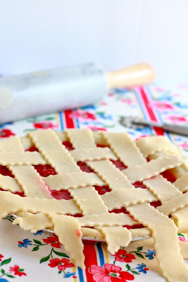 Raspberry pie before it goes in the oven