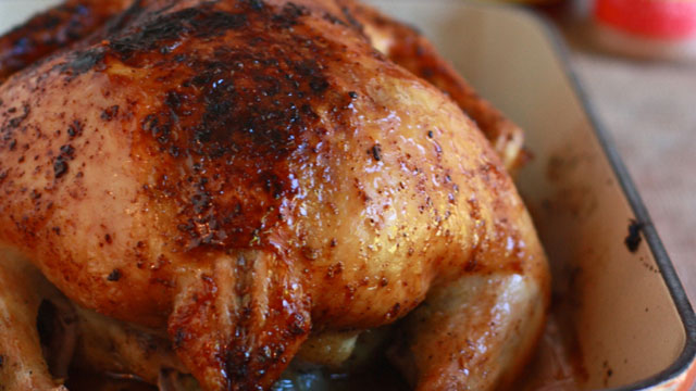 Honey Barbecue Roast Chicken