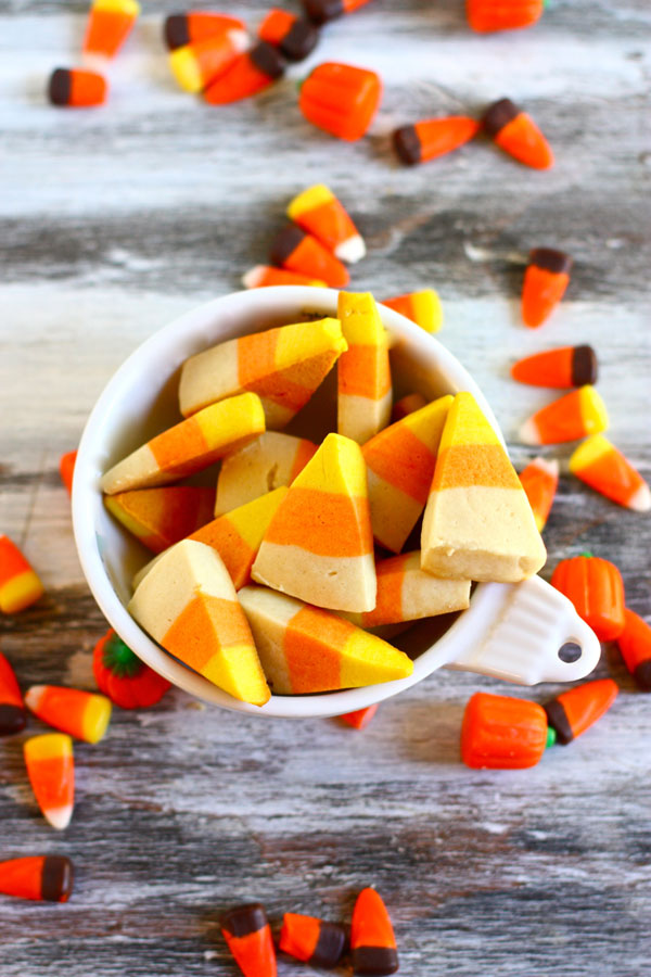 These Candy Corn Cookies look just like the real thing. They're easy to make with kids, and only take a few steps!
