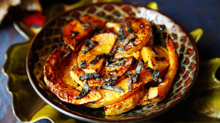 Roasted Butternut Squash with Brown Butter Sage | Recipes | PBS Food