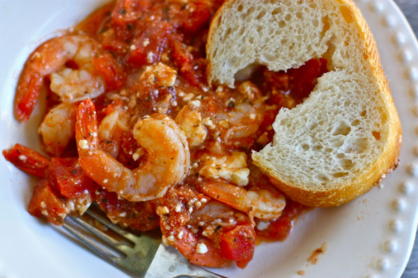 Saucy greek baked shrimp recipe fresh tastes blog pbs food this is one of my favorite quick and tasty dinners i come from the camp that feta makes anything better and this baked shrimp is full of it forumfinder