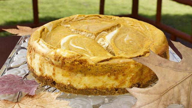 Pumpkin Swirl Cheesecake Recipe | Dessert Recipes | PBS Food