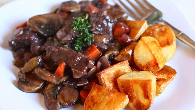 bourguignon recipe with roasted potatoes french recipes pbs food
