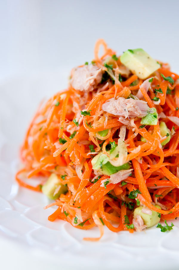 Carrot, Tuna, and Avocado Salad