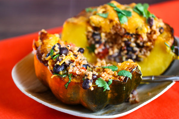 Veggie Quinoa-Stuffed Acorn Squash Recipe — Dishmaps