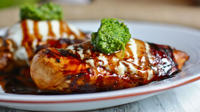 Grilled Balsamic Chicken Recipe With Pesto Entree Recipes Pbs Food