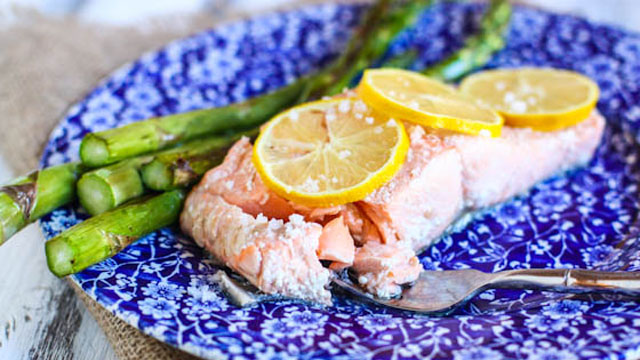 Poached Salmon Recipe with Asparagus | Seafood Recipes | PBS Food