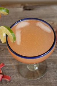 Rhubarb Margarita from What's Gaby Cooking