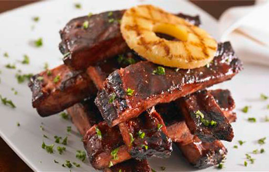 Grilled Baby Back Ribs with Pineapple Glaze