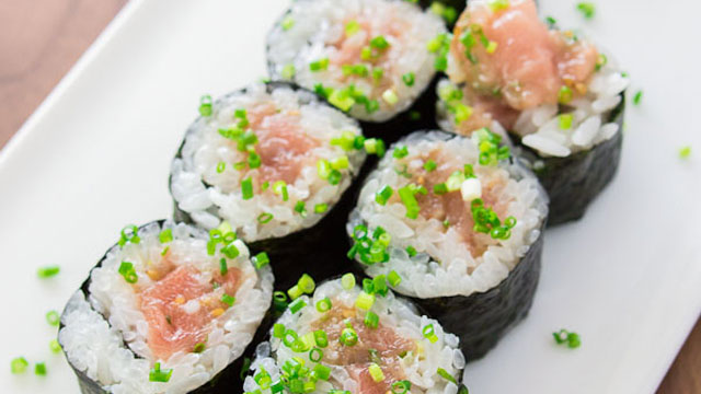 Negitoro sushi recipe japanese recipes pbs food forumfinder Choice Image