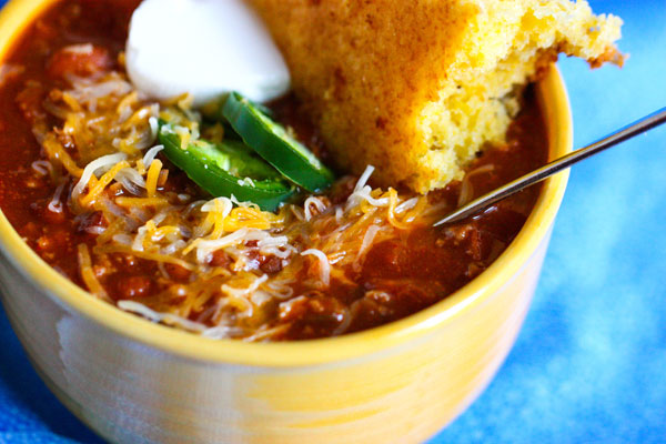 All-American Beef Chili is a hearty dinner with a secret ingredient - coffee!