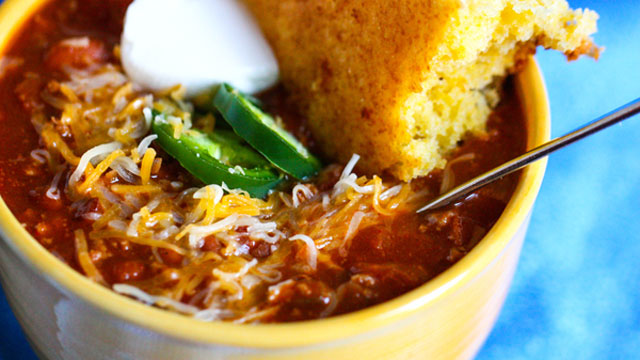 All american beef chili with beans recipe entree recipes pbs food forumfinder Image collections