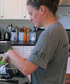 Chef April Bloomfield at work