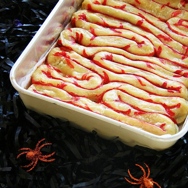 puff pastry intestines - Scary Halloween Cake Recipes