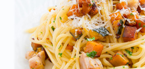 Thanksgiving Recipes Kabocha Turkey Pasta