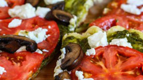 Grilled Feta Pizza