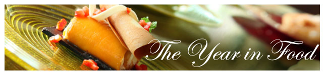 The Year in Food 2012 custom banner