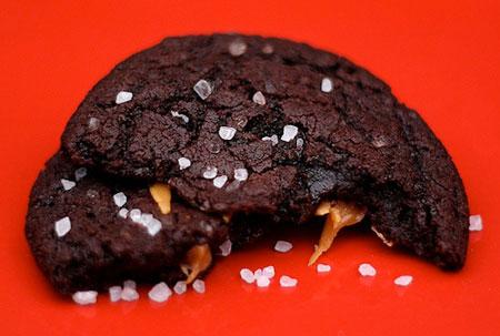 Chocolate Caramel Sea Salt Cookie recipe