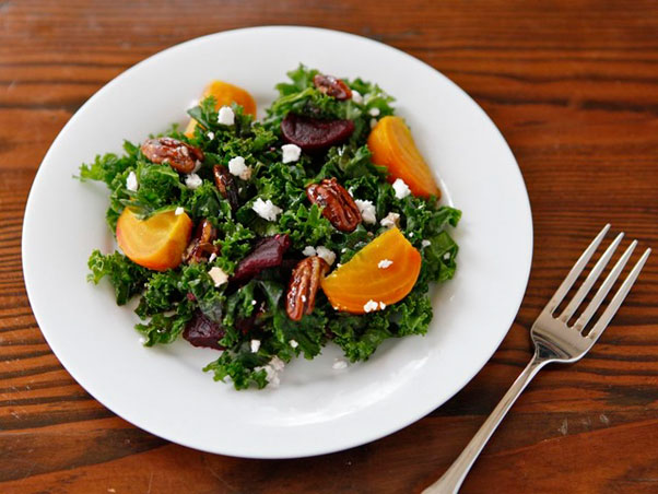 Kale with Roasted Beet Salad Hanukkah recipes