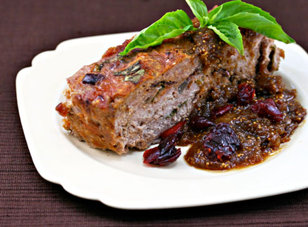 Turkey Meatloaf with Fig Gravy