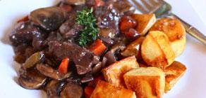 Valentine's Day Menus Beef Bourguignon
