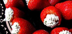 Valentine's Day Stuffed Strawberries