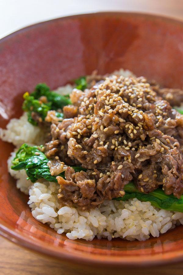Sesame Beef Bowl recipe