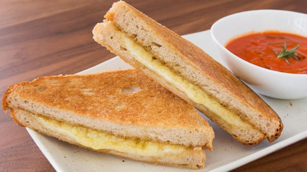 cheese covered grilled cheese sandwich mango chutney mango chutney ...