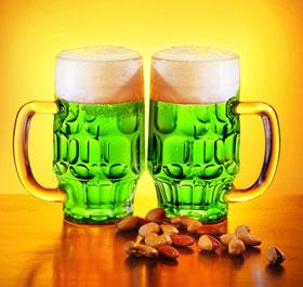 Traditional Irish Food Green Beer